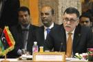 Le nouveau chef de gouvernement libyen, Fayez al-Serraj, à son arrivée à Tripoli le 30 mars 2016.
