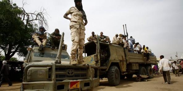 Des combattants des forces de sécurité soudanaises, à Nyala, au Darfour du Sud, le 3 mai 2015.