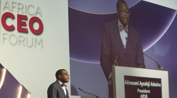 Cérémonie d'ouverture du Africa CEO Forum en mars 2016 à Abidjan (Côte d'Ivoire). Discours d'Akinwumi A. Adesina, président de la Banque africaine de développement (BAD).