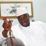 Yahya Jammeh au cours de l'entretien accordé à J.A., le 17 mai à Farafenni.