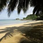 Plage à São Tomé.