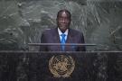 Robert Mugabe, le président zimbabwéen,  à l'Assemblée générale de l'ONU, le 28 septembre 2015.