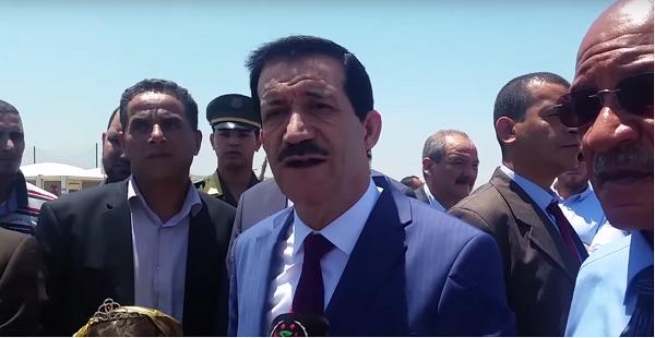 Amar Ghoul, ex-ministre du Tourisme algérien en tournée d'inspection des projets en cours  à Alger, 10 juin 2016.