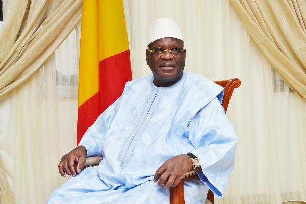Ibrahim Boubacar Keïta, au palais de Koulouba, le 3 mai 2014.