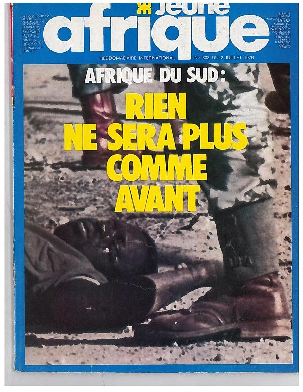 Une de Jeune Afrique n°808, juillet 1976