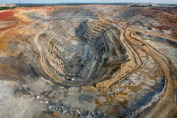 Vue de la mine de cuivre Frontier à Sakania (Sud-Est de la RDC), propriété du luxembourgeois Eurasian Ressources Group, le 3 mars 2015.
