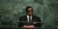 Teodorin Obiang, le 30 septembre 2015 au siège des Nations Unies.