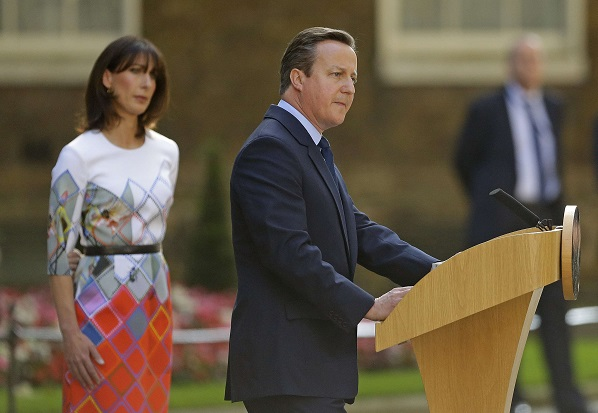 David Cameron annonce sa démission d'ici trois mois après le Brexit, vendredi 24 juin, à Londres.