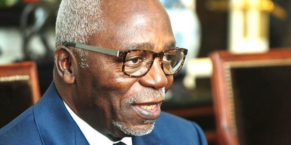L'ancien président de l'Assemblée nationale gabonaise Guy Nzouba-Ndama, à Paris le 16 juin 2016.