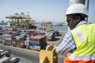 Port autonome de Dakar. Zone de stockage, chargement et distribution de conteneurs, le 22 octobre 2014.