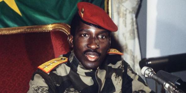 Thomas Sankara, ex-président du Burkina Faso, le 7 février 1986 à Paris.