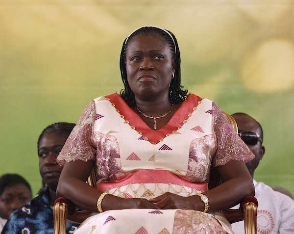 L'ex-Première dame ivoirienne, Simone Gbagbo, le 15 janvier 2011 à Abidjan.