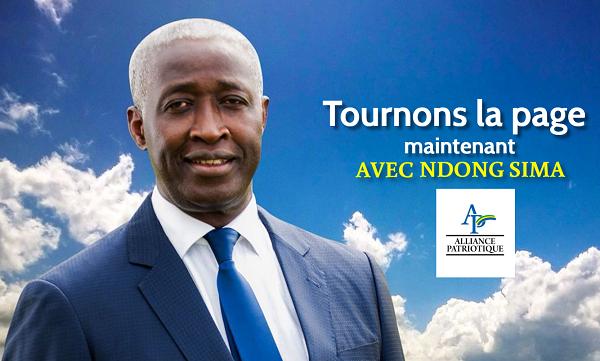Une affriche de campagne de Raymond Ndong Sima pour le scrutin du 27 août 2016.