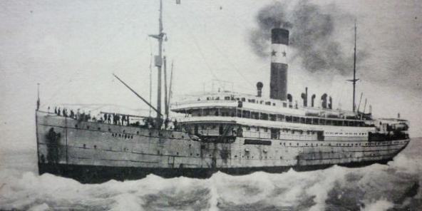 Une gravure du paquebot Afrique réalisée vers 1920.
