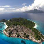L'île de North-Island, dans l'archipel des Seychelles.