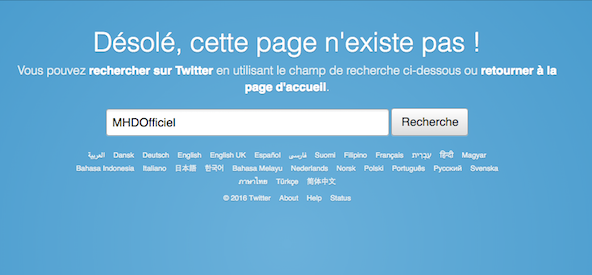 Copie d'écran de Twitter datée du 20 juillet.