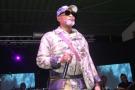 Le chanteur Koffi Olomidé en concert.