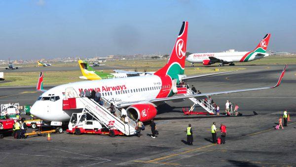 L'aéroport Jomo-Kenyatta, à Nairobi (Kenya)