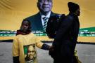 Des partisans de Jacob Zuma à Johannesburg, le 31 juillet 2016.