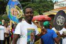 Un partisan d'Evaristo Carvalho à São Tomé, le 18 juillet 2016.