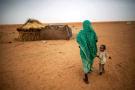 Dans un camp de déplacés internes au Darfour, région dans laquelle la guerre à fait plusieurs centaines de milliers de morts et des millions de déplacés.