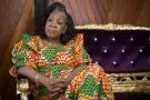 Catherine Samba-Panza le 20 mars 2014 à Bangui.