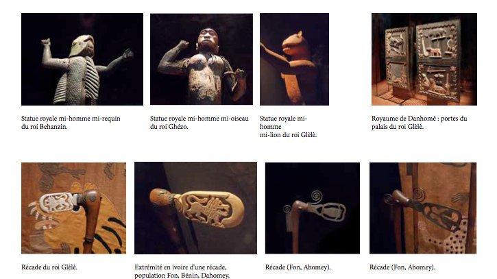 Plusieurs œuvres d'art issus du pillage de 1892.