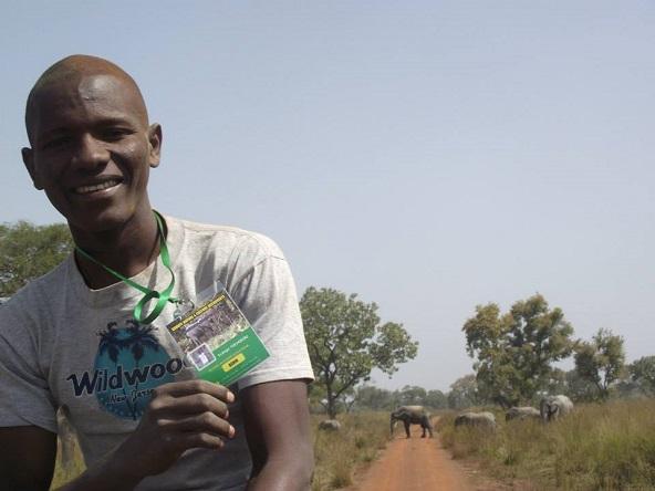 Euloge dans le parc de la Pendjari au nord Bénin