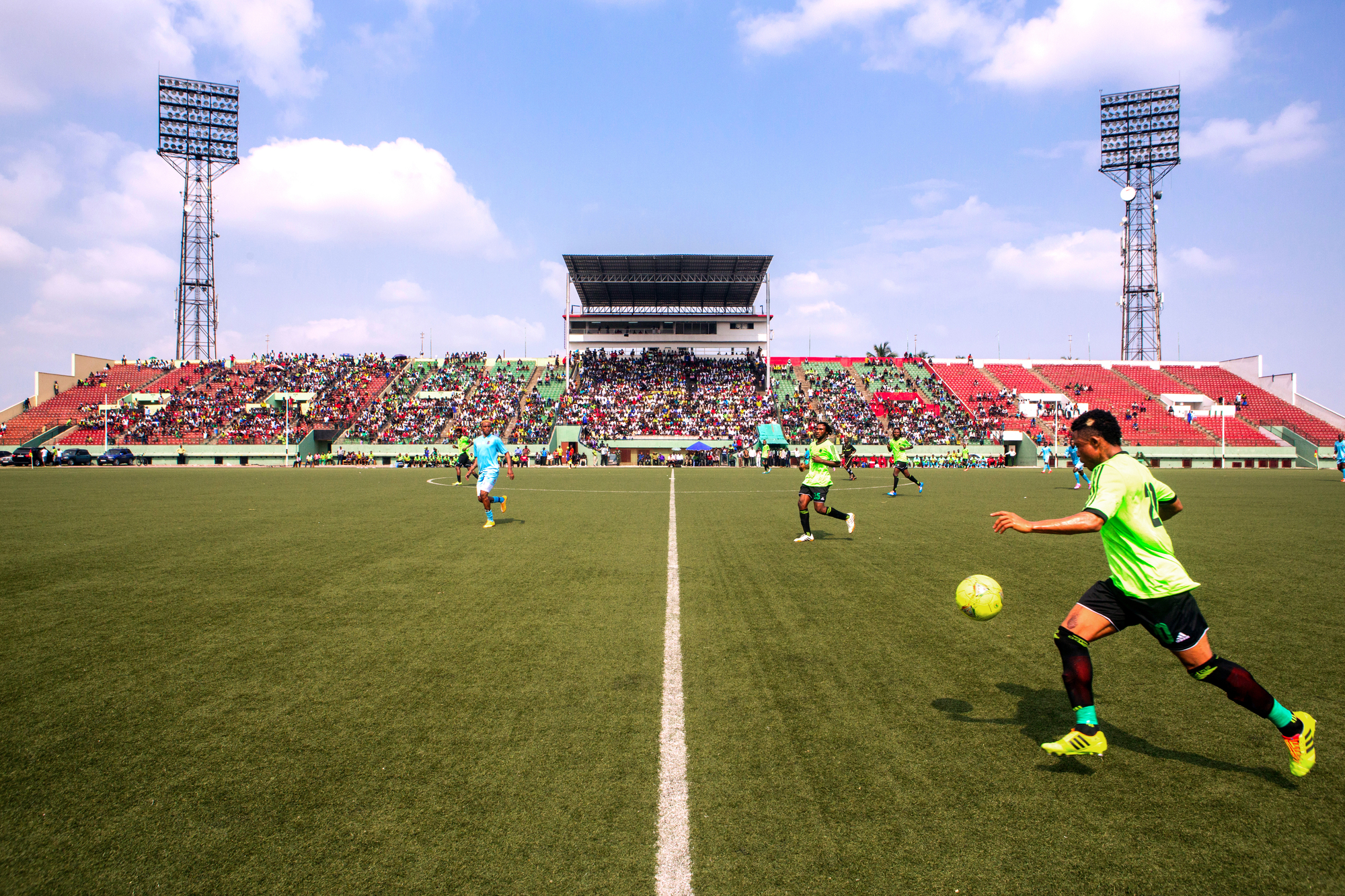 Match de préparation entre les Léopards de RD Congo et l'AS Vita Club, le 8 octobre 2014.