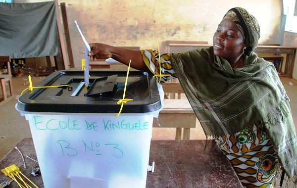 Un bureau de vote à Libreville, le 30 août 2009.