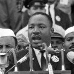 Martin Luther King prononçant son célèbre discours «I have a dream», le 28 août 1963, à Washington.