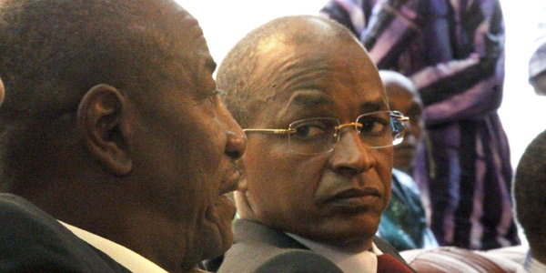 Alpha Condé et Cellou Dalein Diallo, le 6 novembre 2010 à Conakry.
