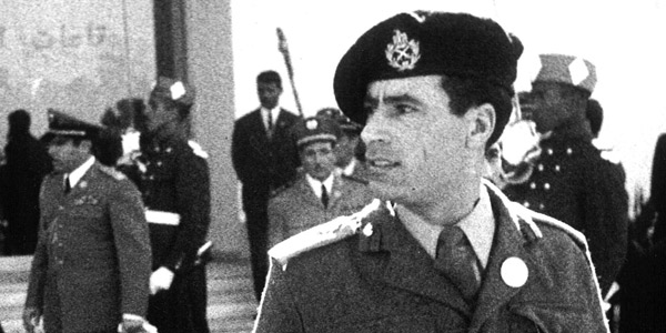 Le colonel Mouammar Kadhafi.