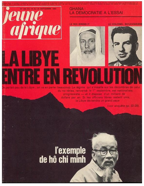 Une du Jeune Afrique n°454 de septembre 1969