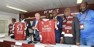 Lors de la présentation du nouveau maillot du FC Metz.