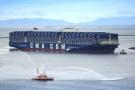 Le Benjamin Franklin, un des plus grands porte-conteneurs du monde (18 000EVP), mis en service en décembre2015.