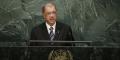 Le président des Seychelles James Alix Michel lors de la 70e Assemblée générale des Nations unies le 29 septembre 2015.