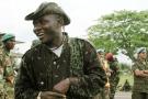 Gabriel Amisi à l'aéroport de Kindu, en 2002. Il était à l'époque l'un des commandants de la rébellion Rassemblement congolais pour la démocratie (RCD).