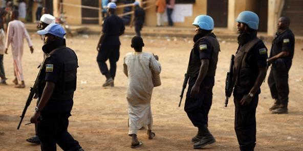 Des soldats de l'Onu à Bangui en février 2016.