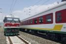 Les nouvelles locomotives à Addis-Abeba le 24 septembre 2016.