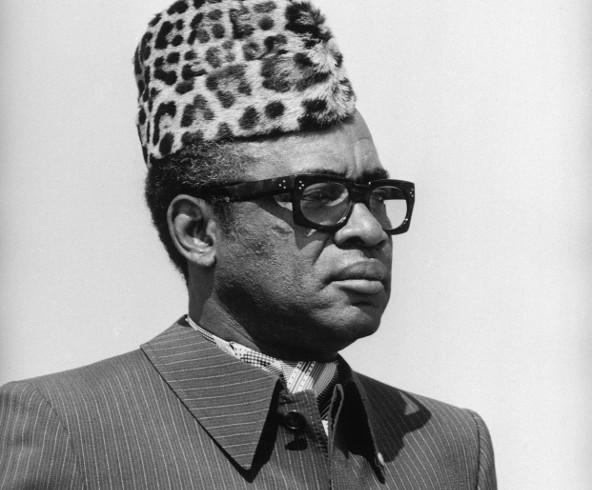 Mobutu Sese Seko, président du Zaïre, à Lubumbashi, dans le sud du pays, juin 1983.