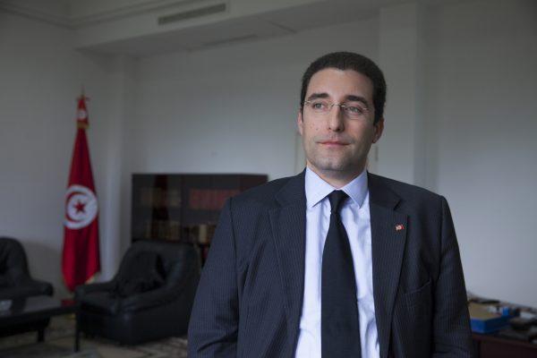 Tunisia, Tunis, le 6 février 2015, Selim Azzabi, Premier Conseiller en charge du Secrétariat Général de la Présidence, dans son bureau du Palais de Carthage