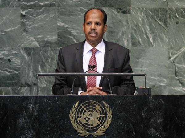 Mahmoud Ali Youssouf, le ministre des Affaires étrangères de Djibouti, en octobre 2012 au siège des Nations Unies.