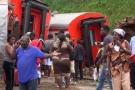 Selon le bilan officiel, 79 personnes ont péri dans l'accident de train survenu à Eseka, au Cameroun, le 21 octobre 2016