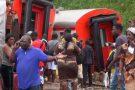 Des victimes après la catastrophe ferroviaire d'Eseka, le 21 octobre 2016.