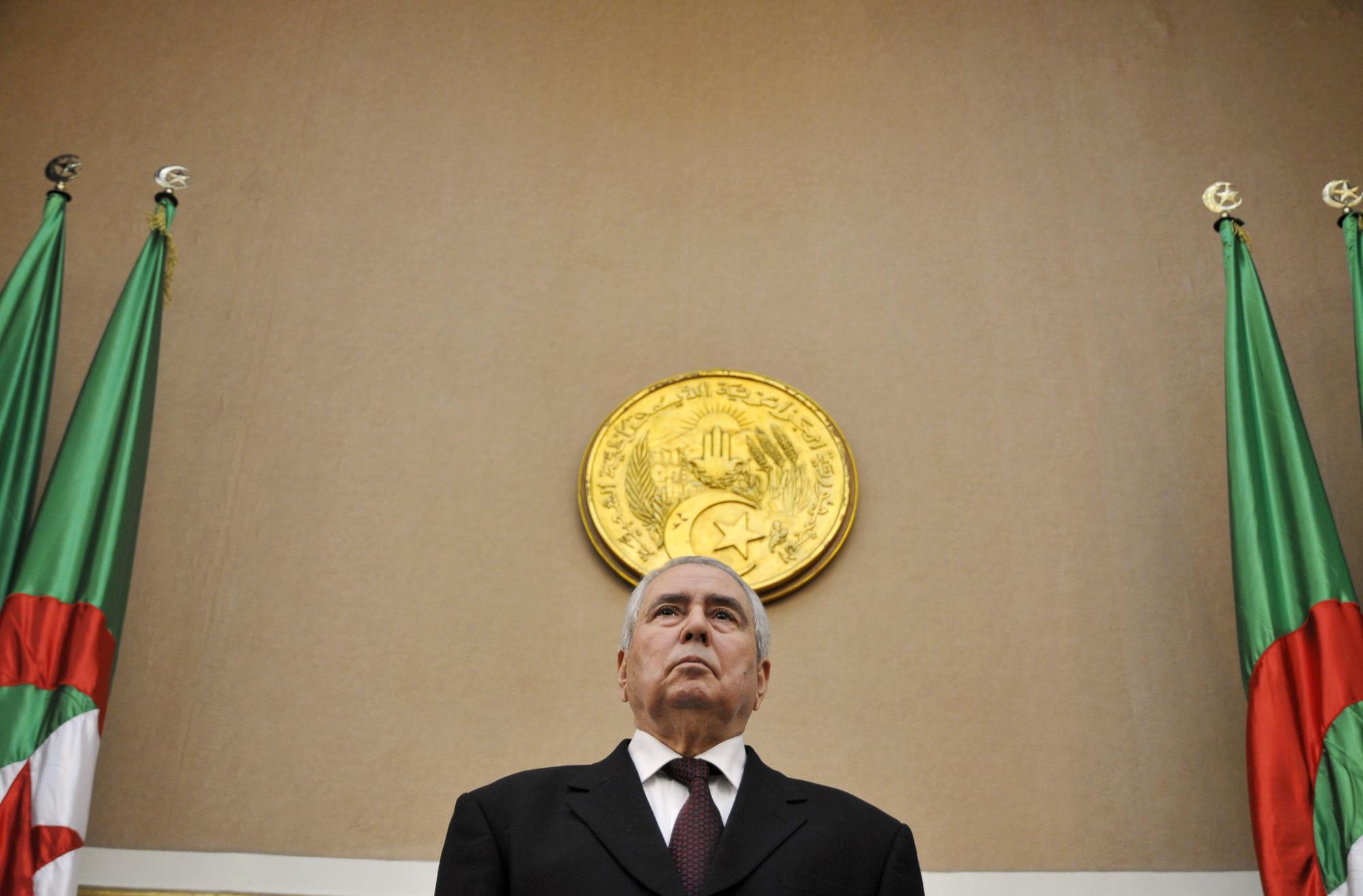 Abdelkader Bensalah, président du Conseil de la nation algérien.