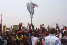 Une manifestation de supporters de l'UDPS , en juillet 2016 à Kinshasa, en RDC.