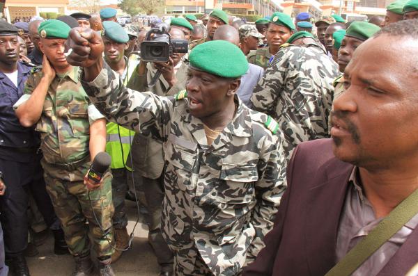 Amadou Haya Sanogo en mars 2012 à Bamako, au Mali.