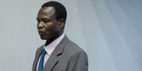 Dominic Ongwen à la Cour pénale internationale de La Haye le 6 décembre 2016.