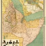 Carte des possessions italiennes en Afrique (1896).